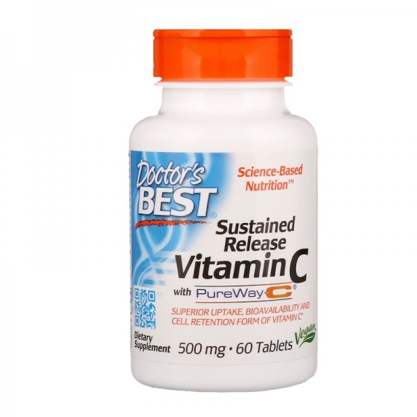 Doctor's Best Sustained Release Vitamin C 500mg 60 Tablets