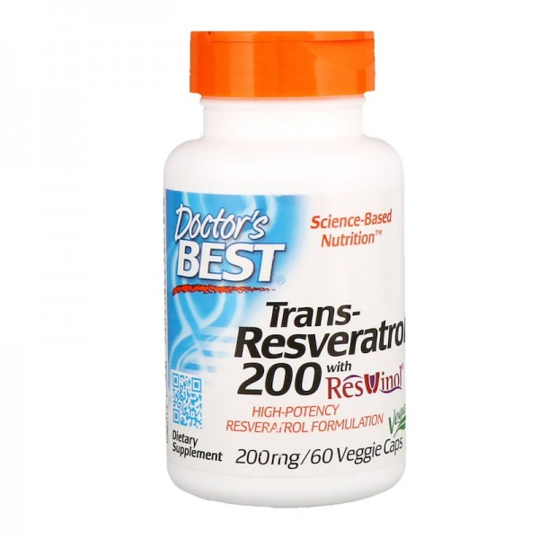 Doctor's Best Trans-Resveratrol 200mg 60 Capsules