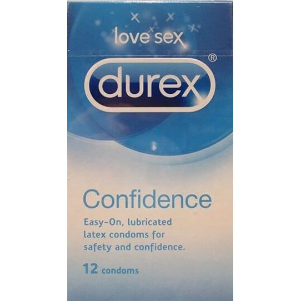 Durex Confidence Condoms 56mm Width 12 Pk