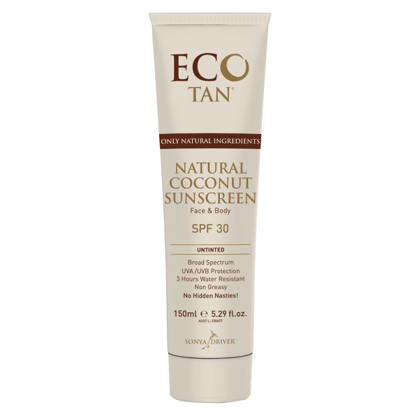 Eco Tan Natural Coconut Sunscreen SPF30 150ml Tube