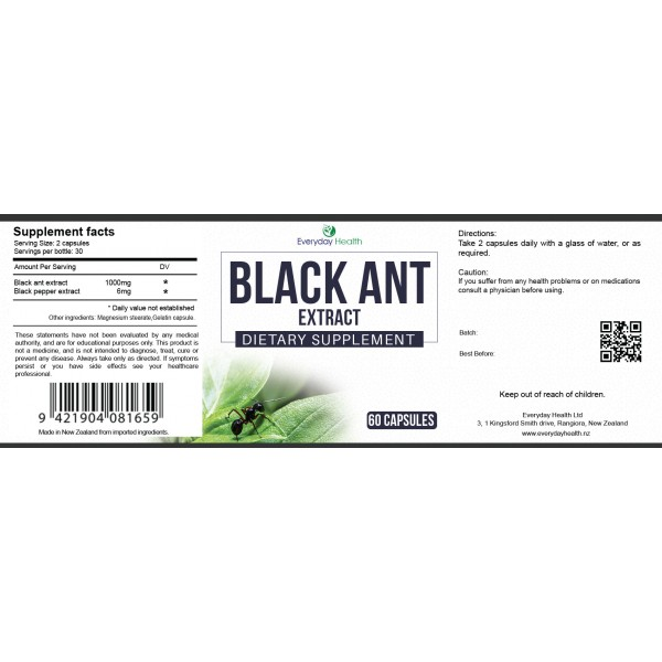 Everyday Health Black Ant Extract 60 Capsules
