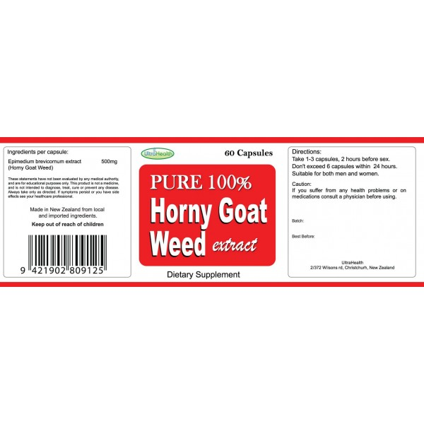 Everyday Health Horny Goat Weed 60 Capsules