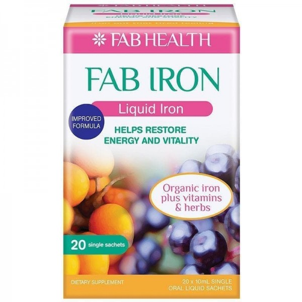 Fab Iron Liquid 10ml 20 Sachets