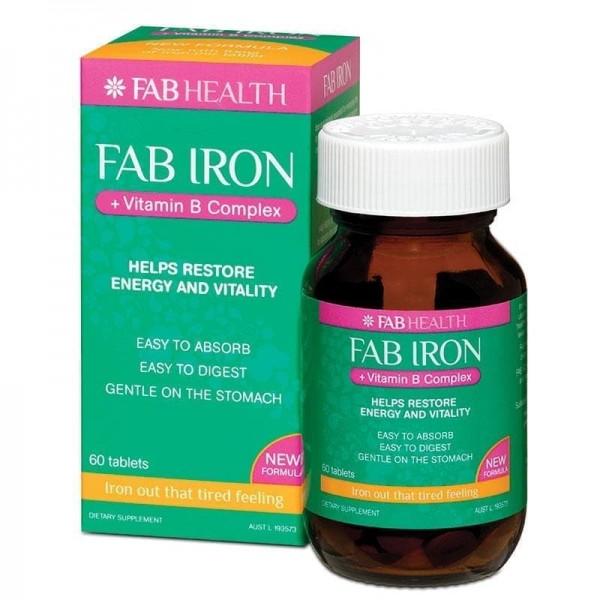 Fab Iron Vitamin B Complex 60 Tablets