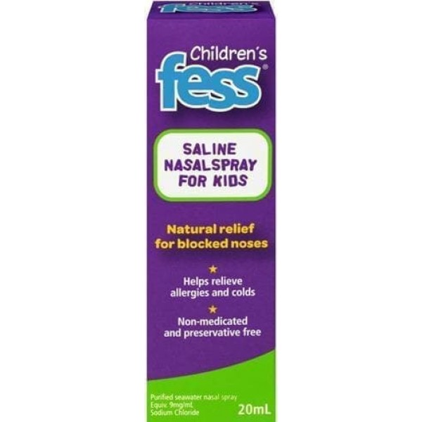 Fess Childrens Saline Nasal Spray 20ml