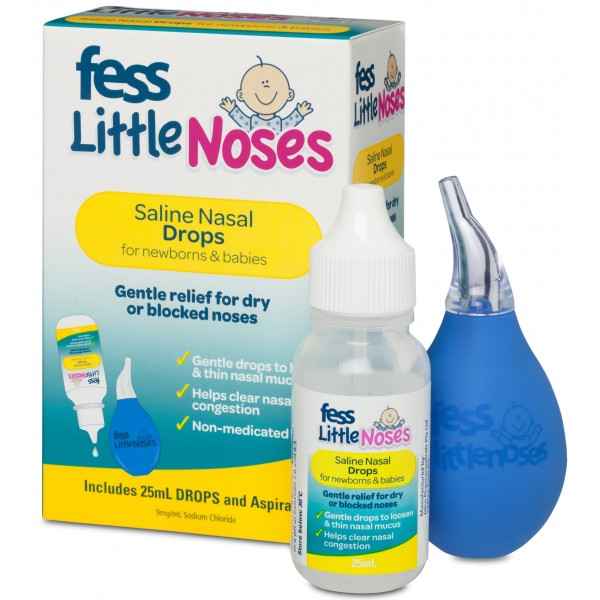 Fess Little Noses Saline Drops 25ml and Aspirator