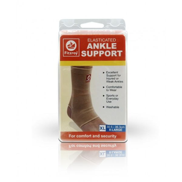 Fitzroy Elasticated Ankle Support - X-Large Size
