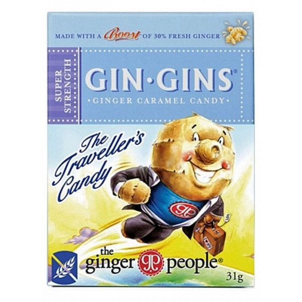 Gin Gins Chewy Ginger Candy Super Strength Travel Pack