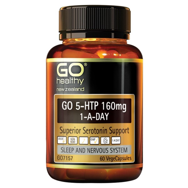 GO Healthy GO 5HTP 160mg 60 Capsules