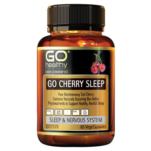 GO Healthy GO Cherry Sleep 60 Capsules