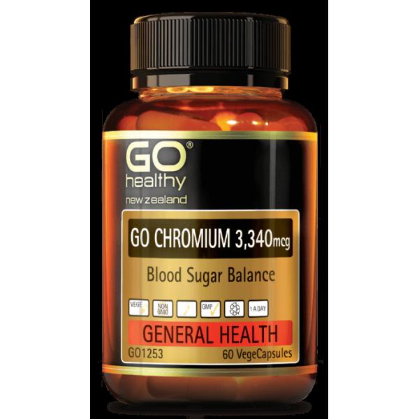 GO Healthy GO Chromium 3340mcg 60 Capsules