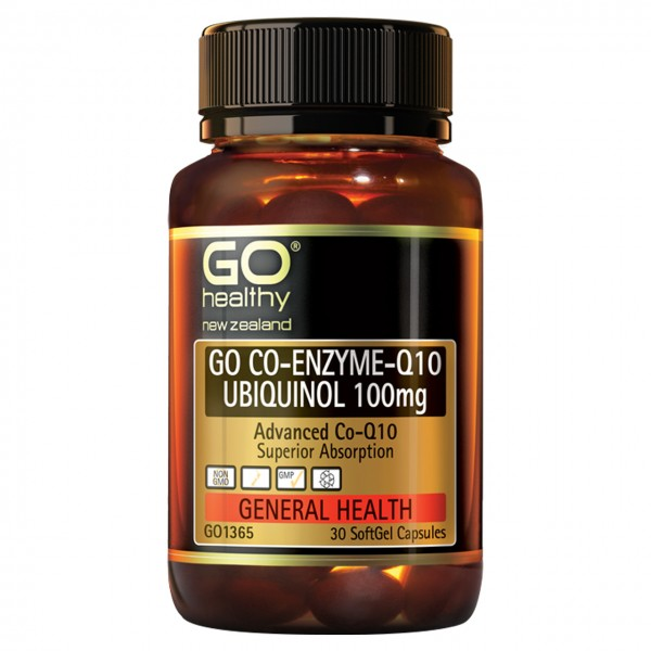 GO Healthy GO Co Enzyme Q10 Ubiquinol 100mg 30 Capsules