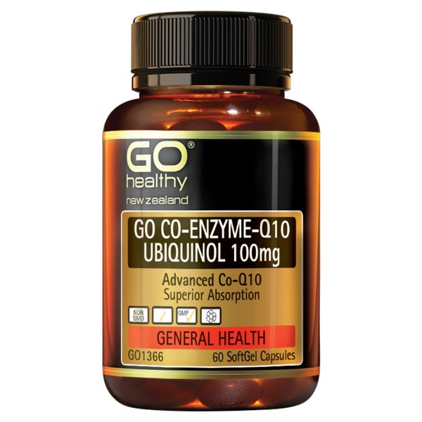 GO Healthy GO Co Enzyme Q10 Ubiquinol 100mg 60 Capsules