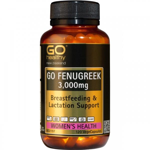 GO Healthy GO Fenugreek 120 Capsules