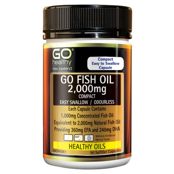 GO Healthy GO Fish Oil 2000mg ODOURLESS 90 Capsules