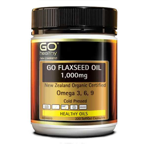 GO Healthy GO Flaxseed Oil 1000mg 220 Capsules