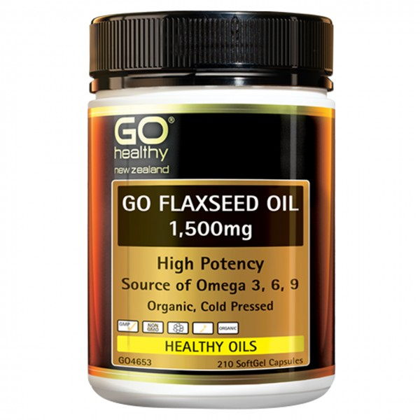 GO Healthy GO Flaxseed Oil 1500mg 210 Capsules