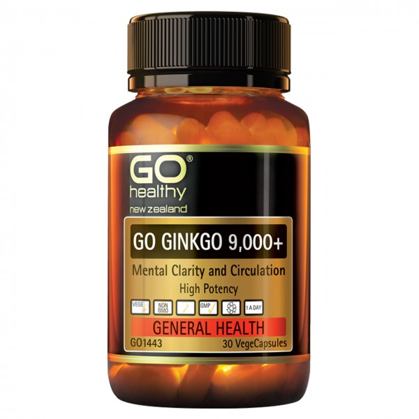 GO Healthy GO Ginkgo 9000+ 30 Capsules