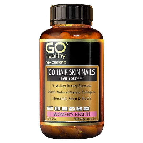 GO Healthy GO Hair Skin Nails 100 Capsules