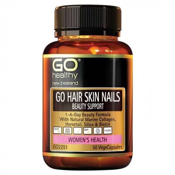 GO Healthy GO Hair Skin Nails 50 Capsules