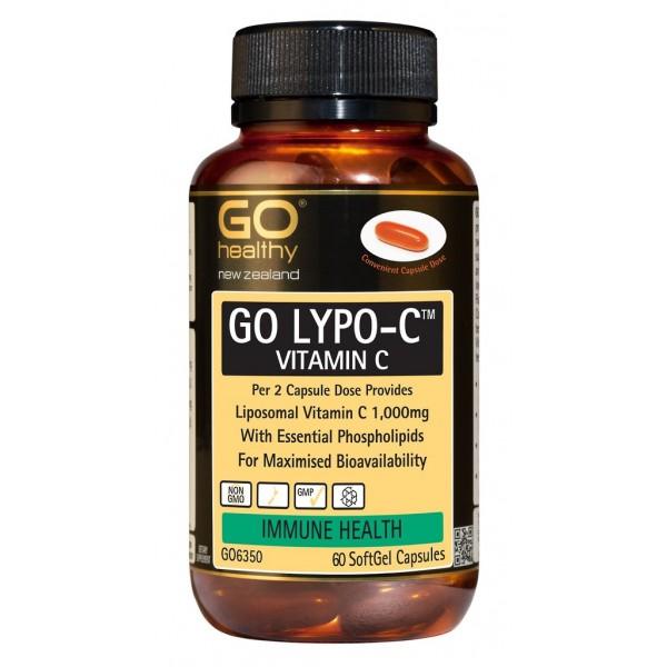 GO Healthy GO Lypo C Liposomal Vitamin C 60 Capsules