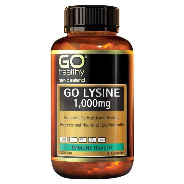 GO Healthy GO Lysine 1000mg 60 Capsules