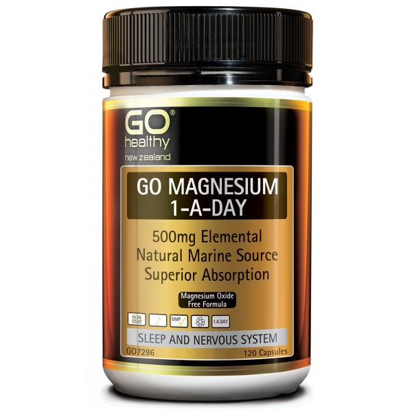 GO Healthy GO Magnesium 1-A-Day 500mg 120 Capsules