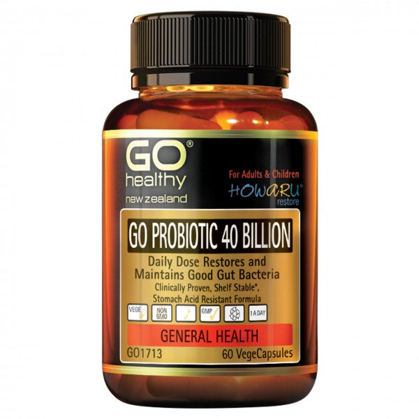 GO Healthy GO Probiotic 40 Billion 60 Capsules