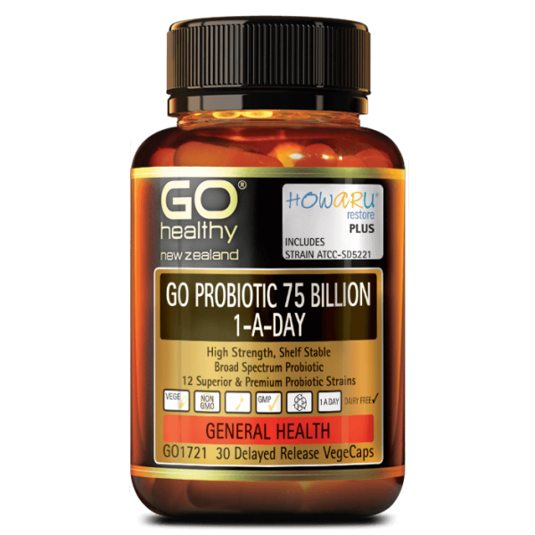 GO Healthy GO Probiotic 75 Billion 1-A-Day 30 Capsules
