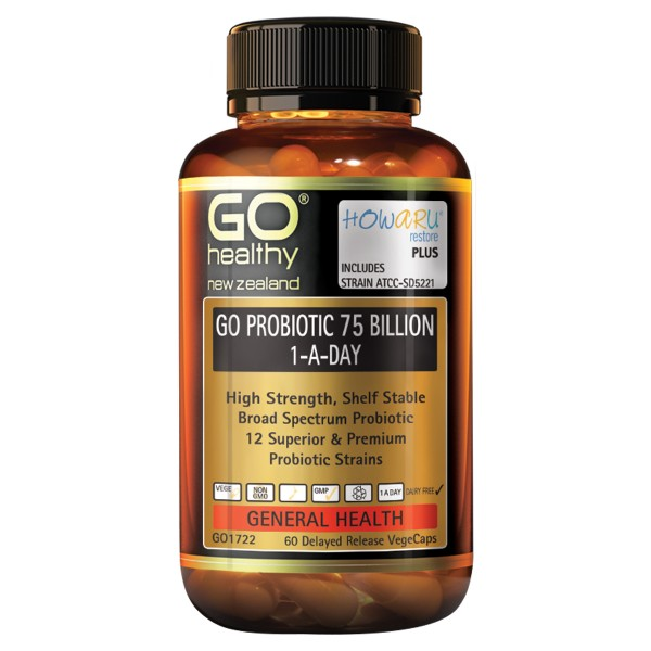 GO Healthy GO Probiotic 75 Billion 1-A-Day 60 Capsules
