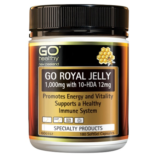 GO Healthy GO Royal Jelly 1000mg 180 Capsules