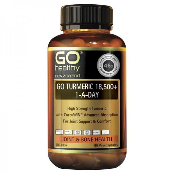GO Healthy GO Turmeric 18500+ 1-A-Day Capsules