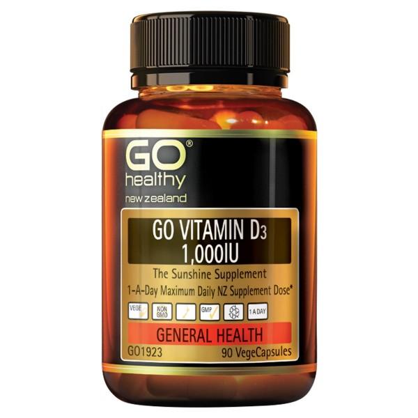 GO Healthy GO Vitamin D3 1000IU 90 Capsules