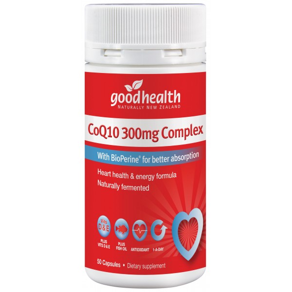 Good Health CoQ10 300mg Complex 50 Capsules