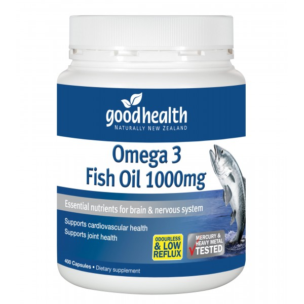 Good Health Omega 3 Fish Oil 1000mg 400 Capsules