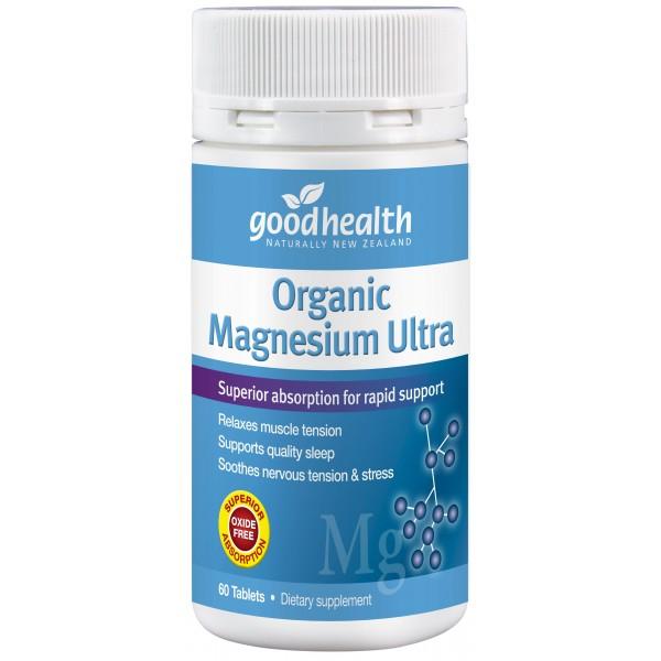 Good Health Organic Magnesium Ultra 60 Tablets