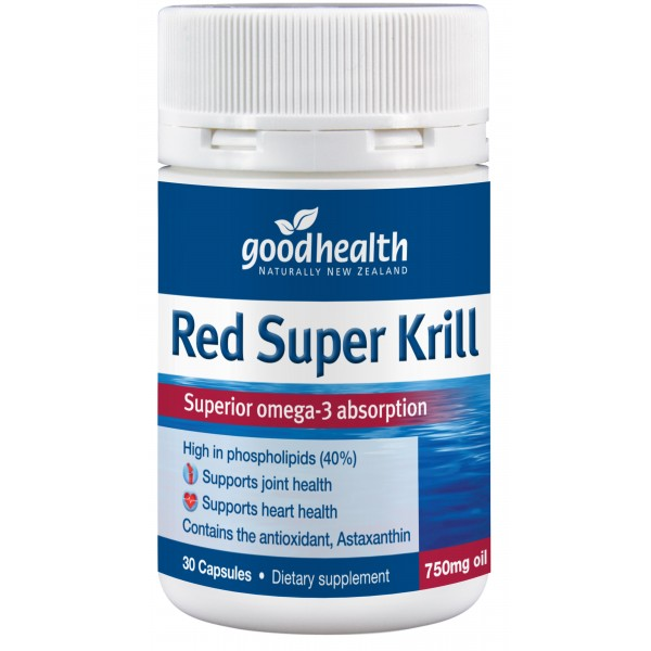 Good Health Red Super Krill 750mg 30 Capsules