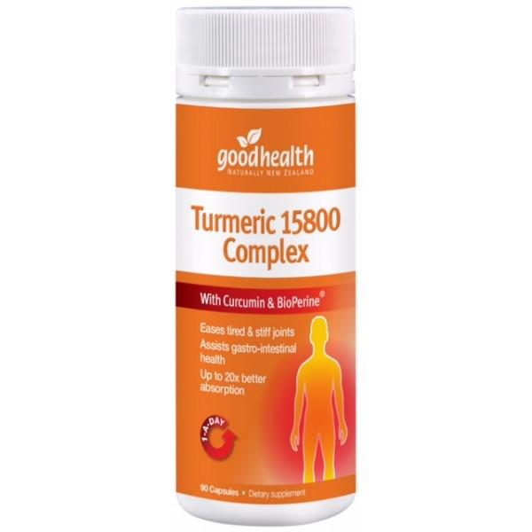Good Health Turmeric 15800 Complex 90 Capsules