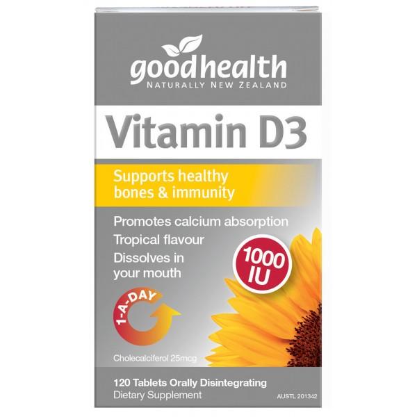Good Health Vitamin D3 Micro-lingual 120 Tablets