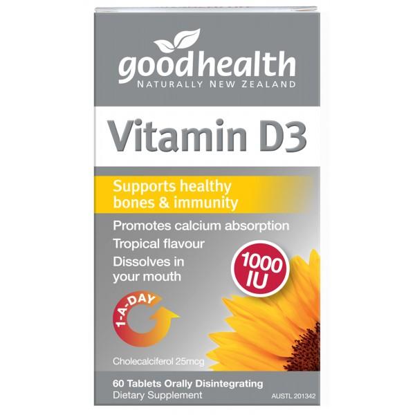 Good Health Vitamin D3 Micro-lingual 60 Tablets