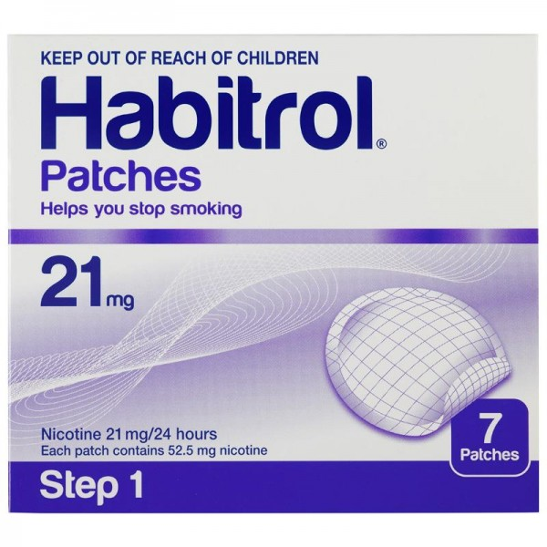Habitrol Nicotine Patches Step 1 21mg 7 Patches