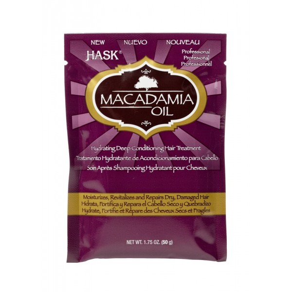 Hask Macadamia Oil Moisturizing Deep Conditioner Treatment Sachet 50g
