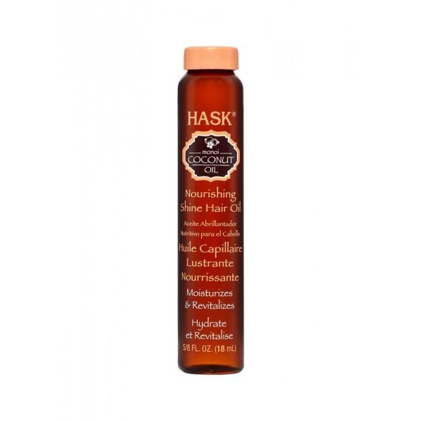 Hask Monoi Coconut Oil Nourishing SHINE Oil Vial 18ml