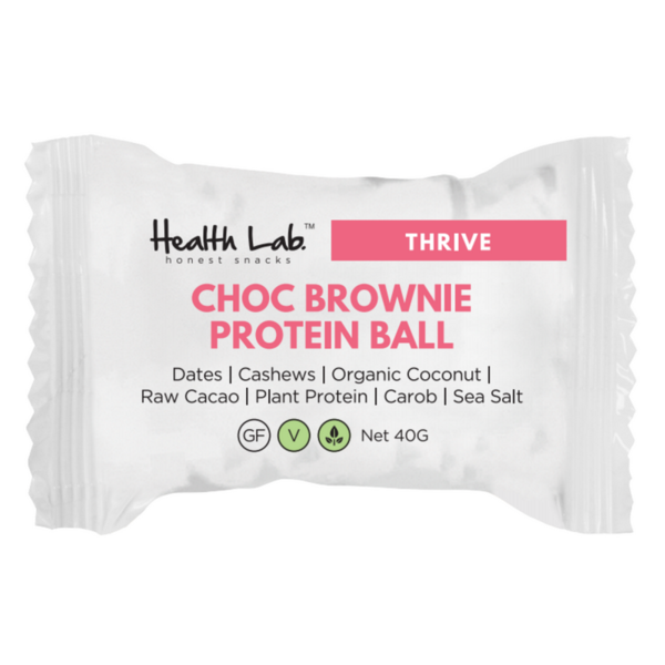 Health Lab Chocolate Brownie Protein Ball 40g Single