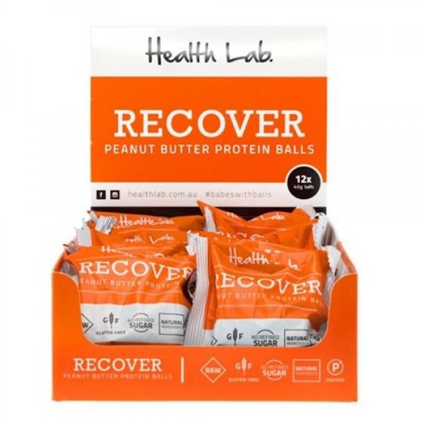 Health Lab Recover Peanut Butter Protein Ball 40g 12 Pack