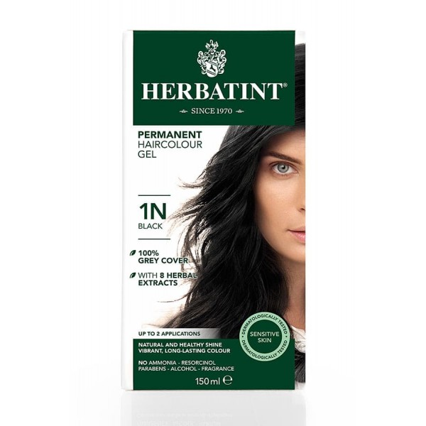 Herbatint Permanent Haircolour Gel Black 1N