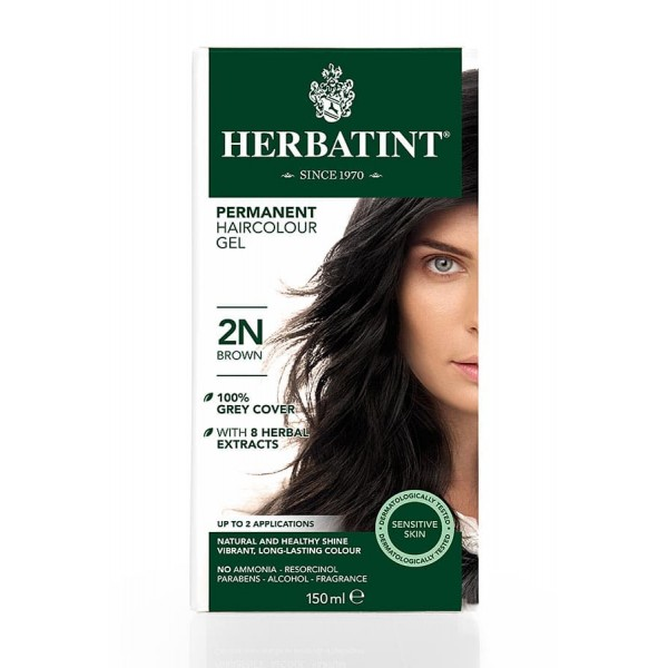 Herbatint Permanent Haircolour Gel Brown 2N