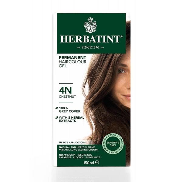 Herbatint Permanent Haircolour Gel Chestnut 4N