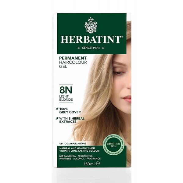 Herbatint Permanent Haircolour Gel Light Blonde 8N