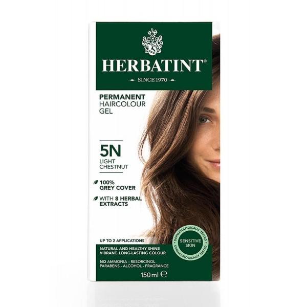 Herbatint Permanent Haircolour Gel Light Chestnut 5N